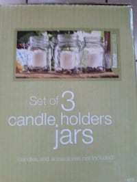 brand new set of 3 candle holders jars Mississauga, L4Z 3L9