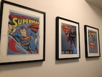 Superman tin posters with frames Burnaby, V5J 4K2