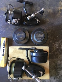 Mitchell Garcia 300 reels, 3 extra spools, reel lube. Anchorage, 99503