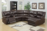 New leather home theater sectional couch  Los Angeles