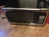 Black and gray microwave oven 265 mi