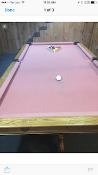 8 foot pool table and cue rack with sticks Warwick, 02886