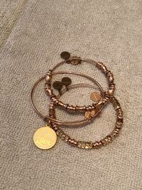 Alex and Ani Rose Gold Love Stack