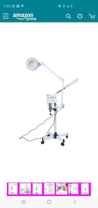 5x magnifier facial steamer lamp 3 in1 multifunction