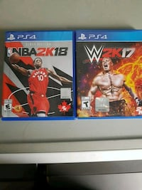 PS4 NBA 2K18, WWE 2K17 Vaughan, L4J 2N8