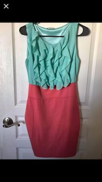 green and red sleeveless dress 28 km