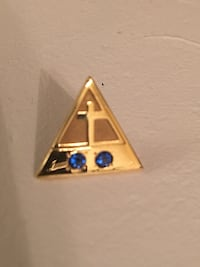 10 k solid gold and sapphire  pin  Toronto, M3M 1K3