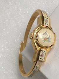 VINTAGE BRAND NAME LADIES BANGLE WATCH FOR SMALL WRIST HANDWIND WORKS PERFECTLY. EXCELLENT CONDITION  Raleigh, 27610