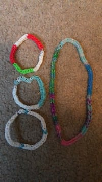 two blue and pink beaded bracelets Arlington, 22202