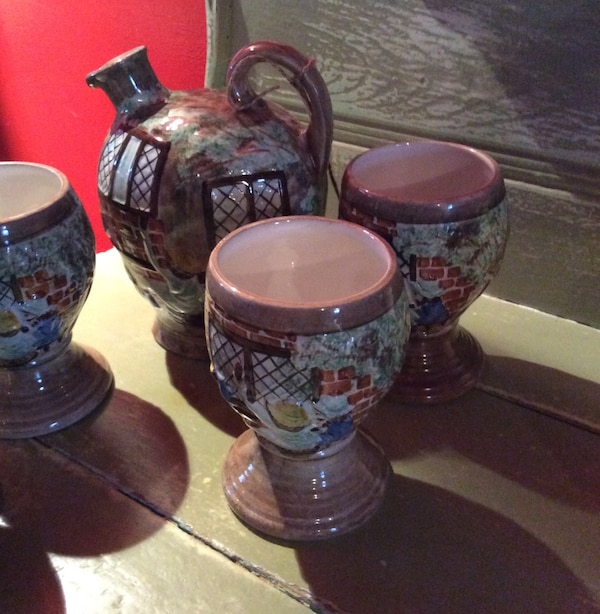 Pitcher and goblets