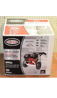 SIMPSON PowerShot 3300-PSI 2.5-GPM Cold Water Gas Pressure Washer CARB 1145 mi