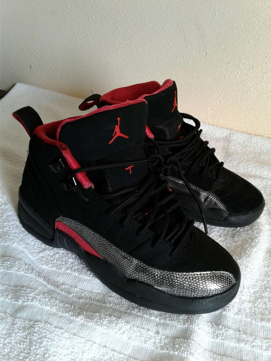 891ce9aa4fa ... usa air jordan 12 black red and gray shoes size 4y 21880 d060e
