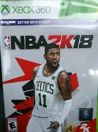 NBA 2K18 xbox360 game/w case Manassas, 20109