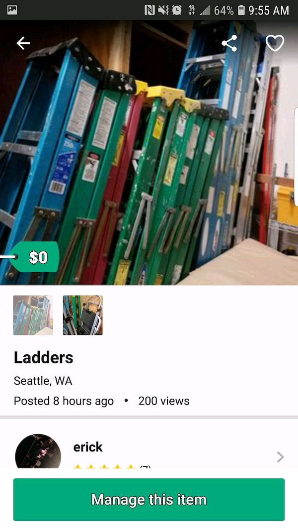 Used Ladders for sale in SeaTac - letgo