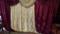 maroon and gold-colored window curtain Kitchener, N2A 4B5