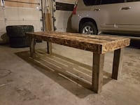 brown wooden table with drawer 3143 km