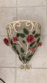 Creme wrought iron wall hanging with shelf Indianapolis, 46259