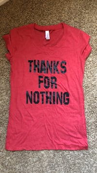 "Red ""THANKS FOR NOTHING"" shirt Phoenix, 85024"