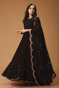 women's black and white long sleeve dress Hyderabad, 500028