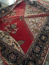 Red, white, and black floral area rug Kinnelon, 07405