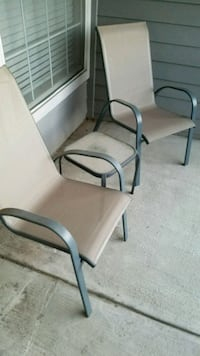 Comfortable patio chairs and table