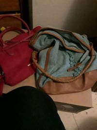 Red  and blue  leather handbag Seattle, 98115
