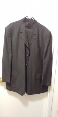Pinned Brown Men's Suit Size: 62R BIG&TALL