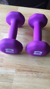 purple and black fixed weight dumbbells Newport News, 23602