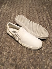 Vans slip-on paid $65 size 11.5 color white. Minor discolouration around the heel area other then that very good condition! Washington, 20002