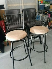 two black metal framed brown padded chairs Round Rock, 78664