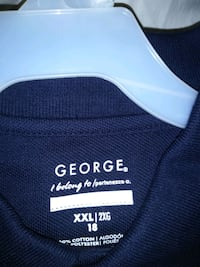 Navy Blue Collared Polo Shirts