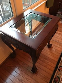I am selling a pair of these mahogany tables . They have some nicks , and are not perfect , but are very nice.  Thank you for looking Fairfax, 22030