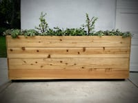 HANDMADE RUSTIC ROLLING PLANTER - PRIVACY WALL PORTABLE CASTERS North Hollywood