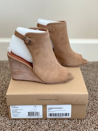 Lucky Brand Risza Open-Toed, Sling back Wedges Maple Ridge, V2X 3A9