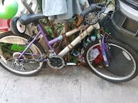 purple and black hardtail bicycle Los Angeles, 90011