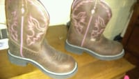 pair of brown leather cowboy boots Denver, 80204