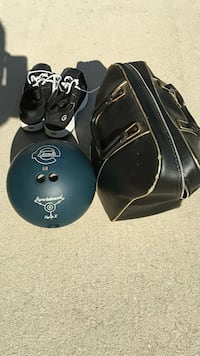 Bowling ball, bag and shoes The Villages, 32162