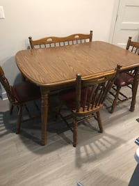 Kitchen table with 3 chairs 1 bench Rockville, 20852
