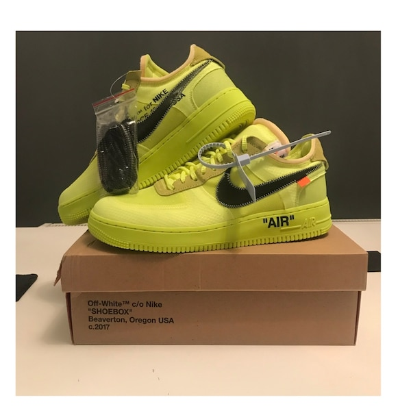 27a7e206719 Used Nike Off white Air Force 1 Volt Size 11 for sale in Tinley Park ...