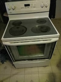 white and black induction range oven Rochester, 14606