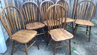 three brown wooden windsor chairs Framingham, 01702