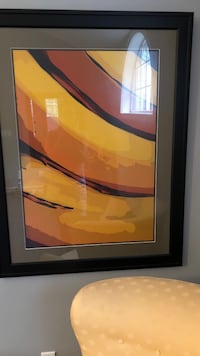yellow and orange abstract painting with black wooden frame Philadelphia, 19140