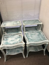 2 Shabby chic end/telephone tables