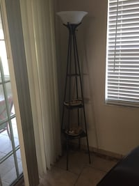 black touchier floor lamp with 3-tier bottom shelves Ocala, 34473