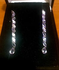 Breathtaking Tanzanite platinum over silver earrings Annapolis Junction, 20701
