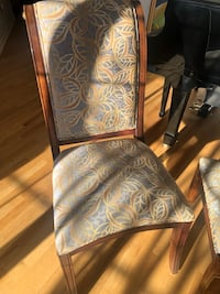 Six dining room chairs , 2 with arms , 4 side chairs .. reupholstered  Upper Marlboro, 20772