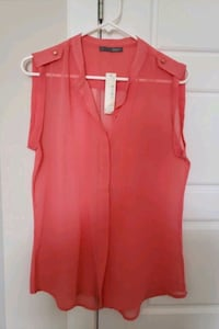 New Coral sleeveless blouse