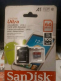 SANDISK ..64 GB .SDc  card  & adapter Winnipeg, R3M 2V9
