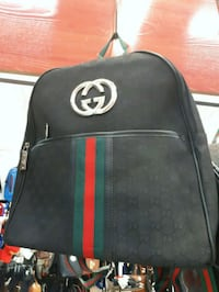 black and red leather backpack Montreal, H3N 2R6