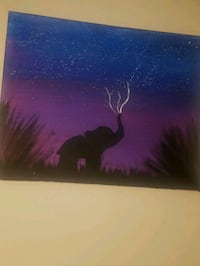painting of a baby  african elphant  Madison, 53719